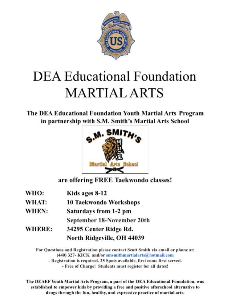 DEA Educational Foundation Youth Martial Arts Program